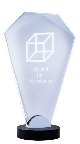 Black Opal Clear Arch Glass Award