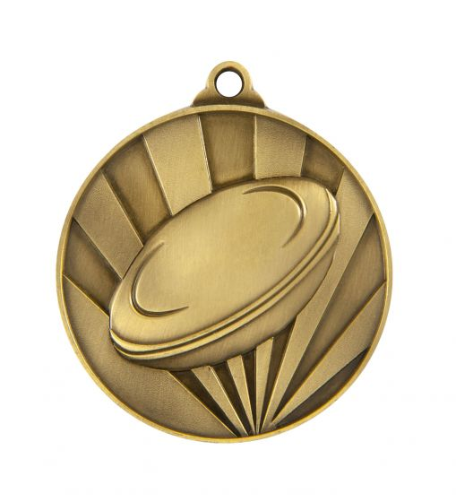 Rugby 70mm Rays Medallion
