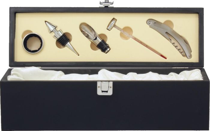Wine Gift Box with Tools - Black