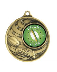 Rugby Globe Boot & Ball Medallion