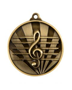 Rays Medallion Music Note