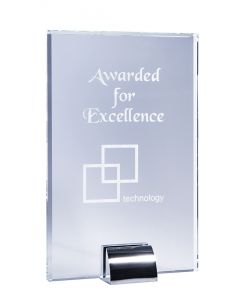 Aspire Rectangle Clear Glass Plaque Award