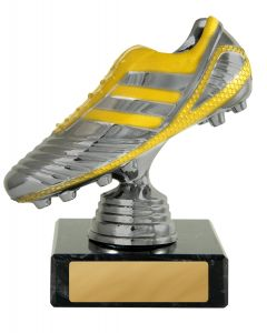 Boot on Base Silver & Yellow