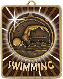 Medallion Swimming Generic Gold