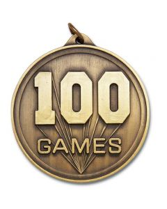 100 Games Round Gold Medallion