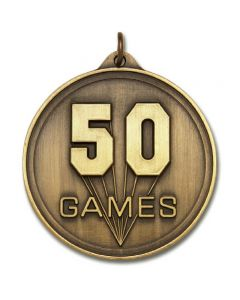 50 Games Round Gold Medallion