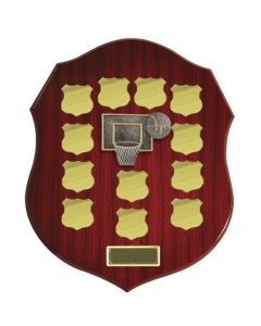 Woodgrain 12 Shield Plates Shield Plaque