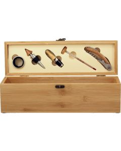 Wine Gift Box with Tools - Bamboo